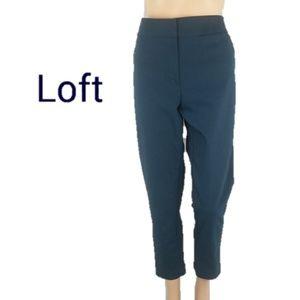 Loft Marisa Skinny Blue Slacks Pants Size 10
